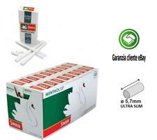 SWAN EXTRA SLIM 5,7MM FILTRO MENTOLO IN CANNUCCIA 20 40 SCATOLINE DA 120 FILTRI