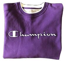 Champion Big & Tall Sweatshirt 4XL Purple Crewneck Pullover With Kangaroo Pocket