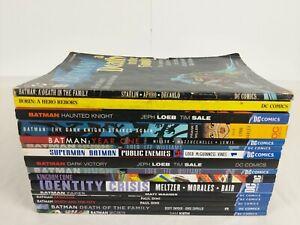 Lot of 16 TPB Batman Graphic Novels DC COMICS