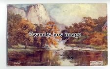 """ar0389 - High Tor in Autumn. Matlock - Artist - """"Jotter"""" -  Postcard - Tuck's"""