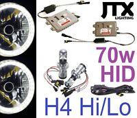 "7"" WHITE Halo Headlights 70w H4 Hi/Lo HID Kit for Nissan Patrol GQ Ford Maverick"
