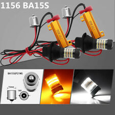2x 1156 BA15S 96SMD LED Dual Color Switchback Turn Signal DRL Light White/Amber