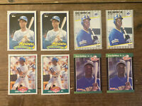 (8) Ken Griffey Jr 1989 Topps Score Donnruss Fleer Rookie Seattle Mariners Lot#3