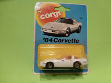 CORGI TOYS 179 CHEVROLET CORVETTE '84  - WHITE - NM+UNOPENED CARD BLISTER