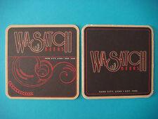 Beer Coaster Bar Mat ~*~ Wasatch Brewery ~*~ Park City, Utah; Brewing Since 1986