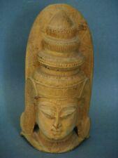 Holz Geschnitzter Kopf Thailand nach 1945