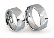 2 Trau-/ Freundschaftsringe Wolfram Tungsten Ringe Nr50