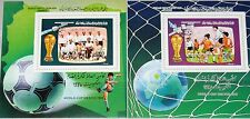 Libia libia 1986 bloque 106-07 S/s 1307-08 Soccer CS fútbol WM Football mnh