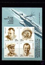 RUSSIA -1991- SPACE - GAGARIN #5977c  MINT / IMPERF OVPT - S/SHEET!