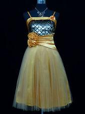 Cherlone Light Orange Party Prom Ball Evening Bridesmaid Wedding Formal Dress 12