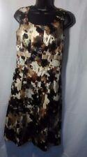 Dressbarn Multi-Color Beige, Brown, Gray & Cream Sleeveless Cocktail Dress Sz 4
