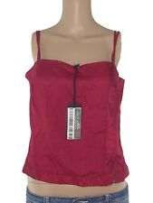 marella top donna rosso bordeaux lino made italy taglia it 46