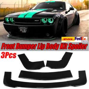 Front Lower Bumper Lip Spoiler Splitter Kit For Dodge Challenger SXT SRT 2012-19