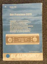 Blaupunkt San Francisco CD72 CD 72 Anleitung DE, EN, FR, IT, NL, SV, ES, PT, DK