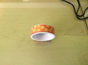 Morex Ribbon Sugar Dots Glitter Grosgrain Ribbon, 7/8-Inch by 4-Yard, Orange/Yel