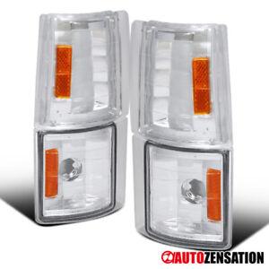 For GMC 94-98 C/K C10 Sierra Clear Lens Corner Turn Signal Lights Lamps Pair