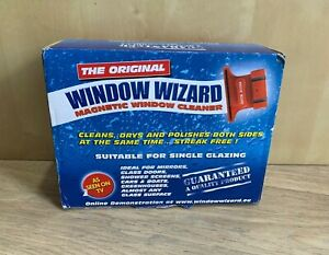 The Original Window Wizard Single Glazing Red Magnetic Glass Cleaning- Boxed