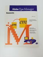 Vintage Sealed Adobe Type Manager Software for Panasonic Floppy Disks