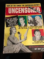 MAG COVER MARILYN MONROE  UNCENSORED   APRIL 1961