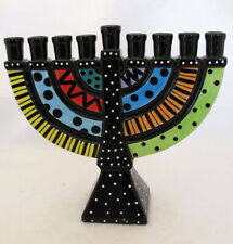 Our Name is Mud Menorah Ceramic Jewish Collectible Fun Whimsical Bright Colors