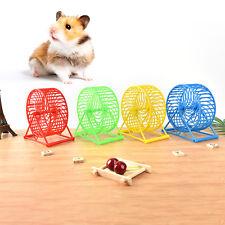 Wheel Running Exercise Plastic Scroll Silent Hamster Mouse Rat Gerbil Pet Toy JC