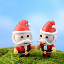 2pcs Miniature Santa Claus Dollhouse Garden Fairy Ornament Figurine Craft Decor