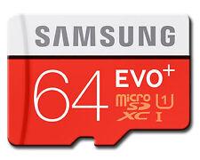 64GB Samsung EVO PLUS 80MB/s Micro SD SDHC SDXC TF UHS-I Class10 Card NEW