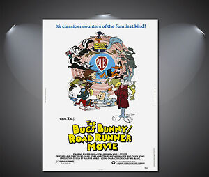 Looney Tunes Bugs Bunny Vintage Movie Poster - A1, A2, A3, A4