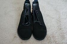 Alden Modified Last Black Suede PCT Boots Moulded Shoe 8C Narrow USA
