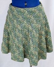 Green 7 Corduroy Skirt Short Maxi Multi Color Floral A Line Flare Junior's VTG