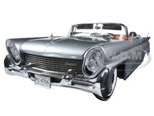 1958 LINCOLN CONTINENTAL MKIII CONVERTIBLE SILVER 1/18 DIECAST CAR SUNSTAR 4706