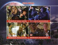Madagascar 2018 CTO Star Wars Han Solo Chewbacca 4v M/S Movies Film Stamps