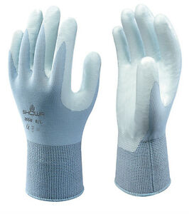10 x Pairs Showa Assembly Lightweight Low Lint Nitrile Grip Work Gloves (265R)