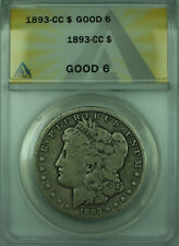 1893-CC Morgan Silver Dollar $1 Coin ANACS Good-6 Better Coin (28)