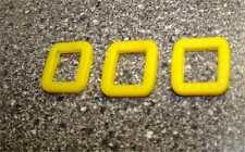 3 Stück Schlüsselkennringe eckig Schlüsselkappen Farbe Gelb