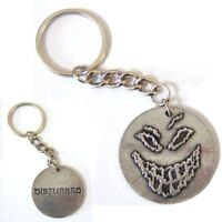 Disturbed Scary Guy Face Logo Metal Key Chain Keychain New Official Band Merch