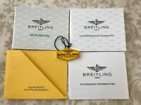 Breitling Automatic Watch Papers Warranty Certificate + Instructions + Hang Tag