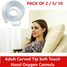 7FT Adult Curved Tip Soft Touch Nasal Oxygen Cannula MEDLINE Pack of 1 2 3 4 5