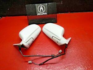 96-01 ACURA INTEGRA DOOR POWER SIDE MIRROR SET DRIVER & PASSENGER SEDAN WHITE X2