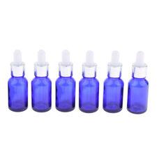 6pcs bouteille en verre vide w / ye compte-gouttes fiole liquide