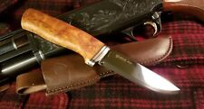 Helle Alden Knife and Leather Sheath made in Norway bushcraft woodsman hunter