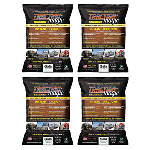Traction Magic Quick Application All Natural Ice & Snow Melter, 45 Lbs (4 Pack)