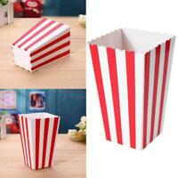 12 x Set Popcorn Striped Paper Boxes Container Box Birthday Bags Favour P7F9