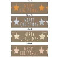 "Merry Christmas Star Ribbon Berisfords  15m & 25mm 1"" Wide 4 shades  14451"