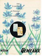 PUBLICITE ADVERTISING 104  1961  BLANGIL  draps parfumés GEMEAUX