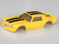 Yellow Xtraction 71 Camaro HO Slot Car Body Fit Old Aurora AFX Mag Traction Flam