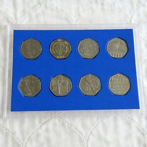 1997 - 2005 8 x 50 PENCE COLLECTION - cased