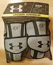 New Mens Under Armour Ua Spectre Lacrosse Arm Guards (L) Large White & Black