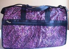 LeSportsac Large Weekender Bag, Duffel/Carry-all, Violet Cheetah, NWT