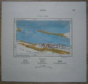 1891 Perron map NASSAU, THE BAHAMAS (#181)